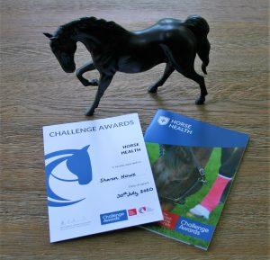 BHS Horse Health Challenge Award Certificate