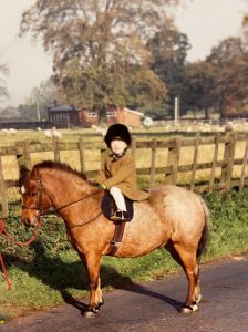 Jessica and her first pony during a day out cubbing