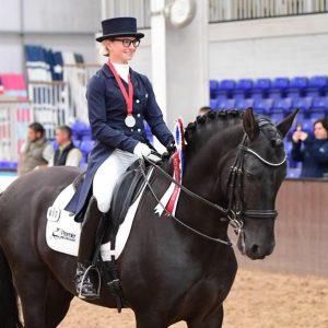 Alice Hurley riding at European Championships