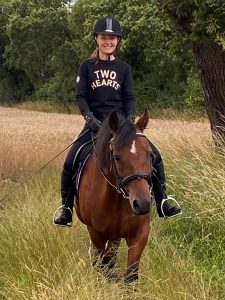 two hearts equestrian clothing image Sharon and Riley