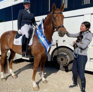 Sarh Higgins riding Ted
