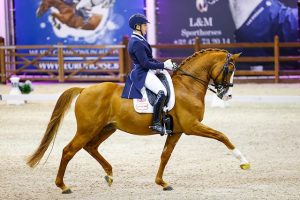 Tom Goode competing at Grand Prix dressage level with Dior
