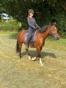 Riley and Sharon out for a hack