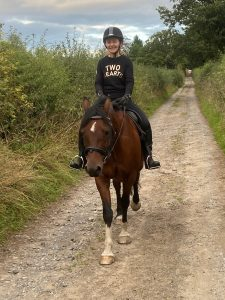 rider and pony out for a hack